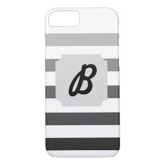 Gray Gradient Monogram iPhone 7 Case
