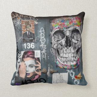 Gray Graffiti Pillow