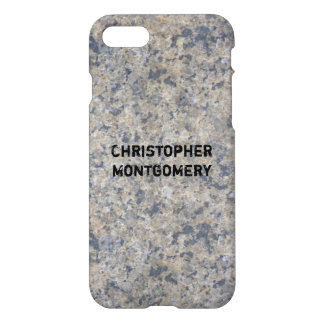 Gray Granite Stone Texture iPhone 7 Case
