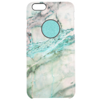 Gray & Green Marble Texture Clear iPhone 6 Plus Case