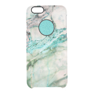 Gray & Green Marble Texture Design 2 Clear iPhone 6/6S Case