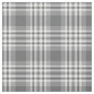 Gray Grey Plaid Gingham Check Tartan Patchwork Fabric