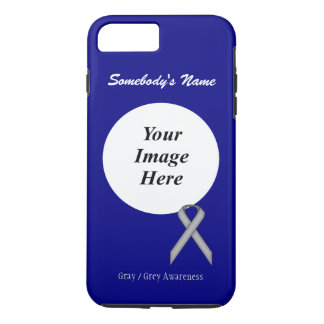 Gray/Grey Standard Ribbon Tmpl by Kenneth Yoncich Case-Mate iPhone Case