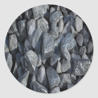 Gray-Grey stones by Khoncepts Classic Round Sticker