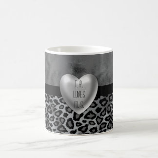 Gray Grunge Leopard Animal Pattern Coffee Mug
