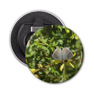 Gray Hairstreak Butterfly on Creosote Bush Button Bottle Opener