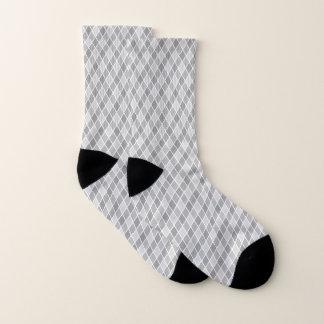 Gray Harlequin Small All-Over-Print Socks