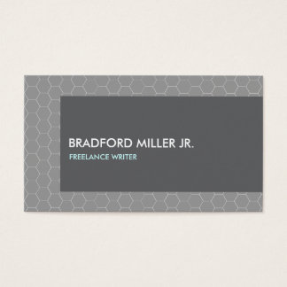 GRAY HONEYCOMB PATTERN Business Card