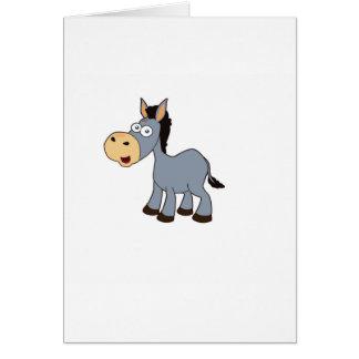 gray horse art card