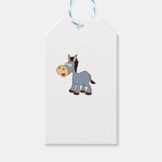 gray horse art gift tags