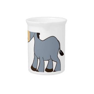 gray horse art pitcher