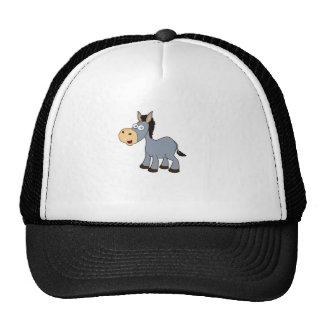 gray horse art trucker hat