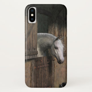 Gray Horse at the Stable Door iPhone X Case