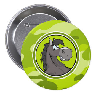 Gray Horse bright green camo camouflage Buttons