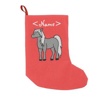 Gray Horse Small Christmas Stocking