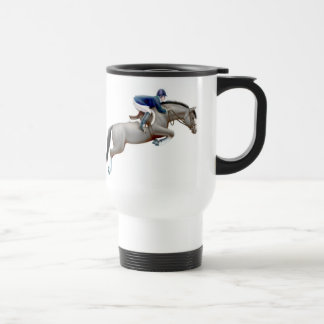 Gray Hunter Jumper Horse Travel Mug