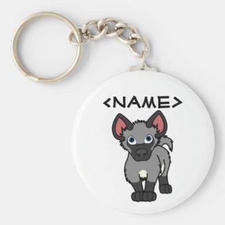 Gray Hyena Cub Basic Round Button Keychain