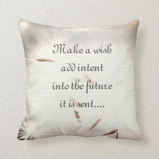 Gray inspirational design throw pillow