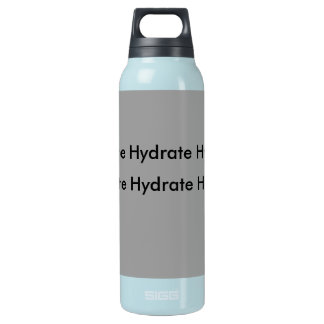 gray insulated water bottle