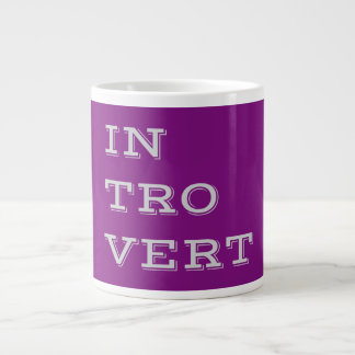 Gray Introvert Specialty Mug Extra Large Mug