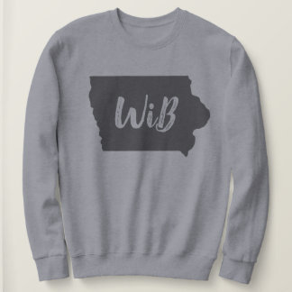 Gray Iowa and cut out font Sweatshirt