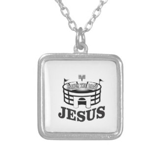 Gray JC raises the roof Silver Plated Necklace
