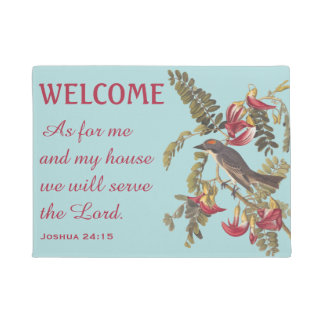 Gray Kingbird and Bible Verse Doormat