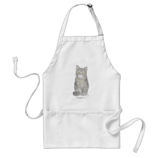 Gray Kitten Apron