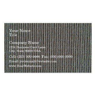 Gray Knitted Fabric Texture Business Cards