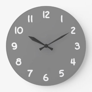 Gray Large Clock