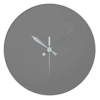 Gray Large Clock
