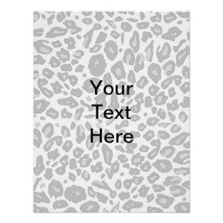 Gray leopard print invites
