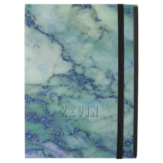 "Gray & Light-Green Marble Stone Print iPad Pro 12.9"" Case"