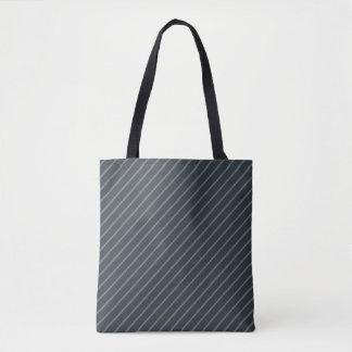 Gray & Light Stripes All-Over-Print Tote Bag
