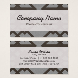 Gray Lines Pattern Elegant Professional Business Card