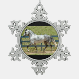 Gray Mangalarga Stallion Christmas Ornament