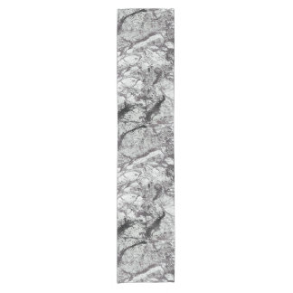 Gray Marble Look Short Table Runner