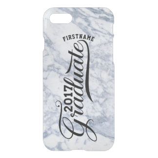 Gray Marble Modern Typography Graduate 2017 iPhone 7 Case