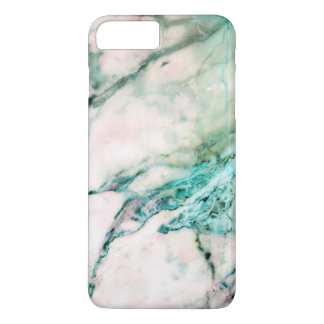 Gray Marble Texture With Green Accents iPhone 8 Plus/7 Plus Case