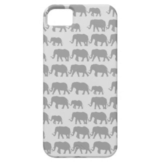 Gray Marching Elephant Family iPhone 5 Cover