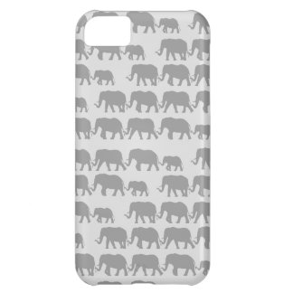 Gray Marching Elephant Family iPhone 5C Cases