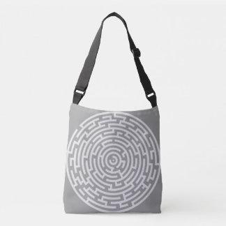 Gray Maze Crossbody Bag
