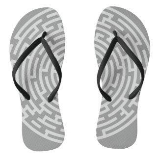 Gray Maze Flip Flops