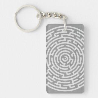 Gray Maze Keychain
