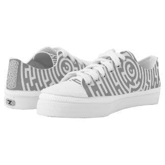Gray Maze Low-Top Sneakers
