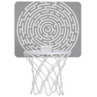 Gray Maze Mini Basketball Hoop