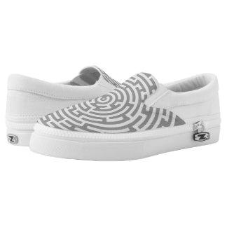 Gray Maze Slip-On Sneakers