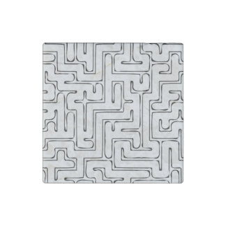 Gray Maze Stone Magnets