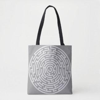 Gray Maze Tote Bag