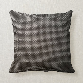 Gray metal mesh design throw pillow